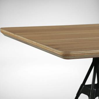 Laminated Tabletop With Natural Plywood Edging