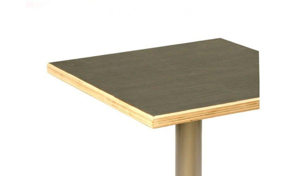 Plywood Edging seen in Evose Bar Table – Round