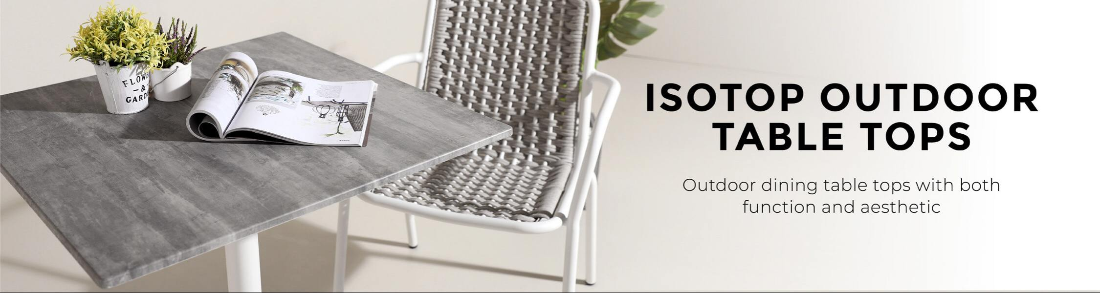 Isotop Outdoor Table Tops