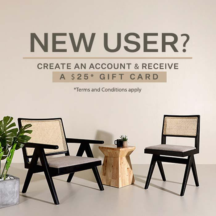 New user? Create an account & receive a $25 gift card