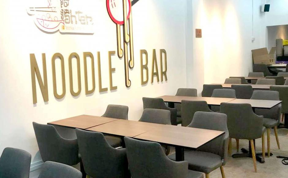 Noodle Bar - Lorong Telok   Product Seen: [Customised Tabletop + Filo Table Base - V2 & Corine Armchair]