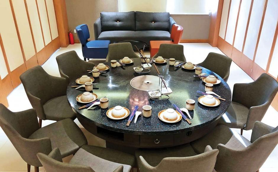 Fisherman's Wharf Restaurant, 8 Miles - Yangon, Myanmar   Product Seen: [Corine Armchair, Bruffon 3–Seater Sofa - Dark Blue, Leopard 1–Seater Sofa & Lucy Coffee Table – Big]