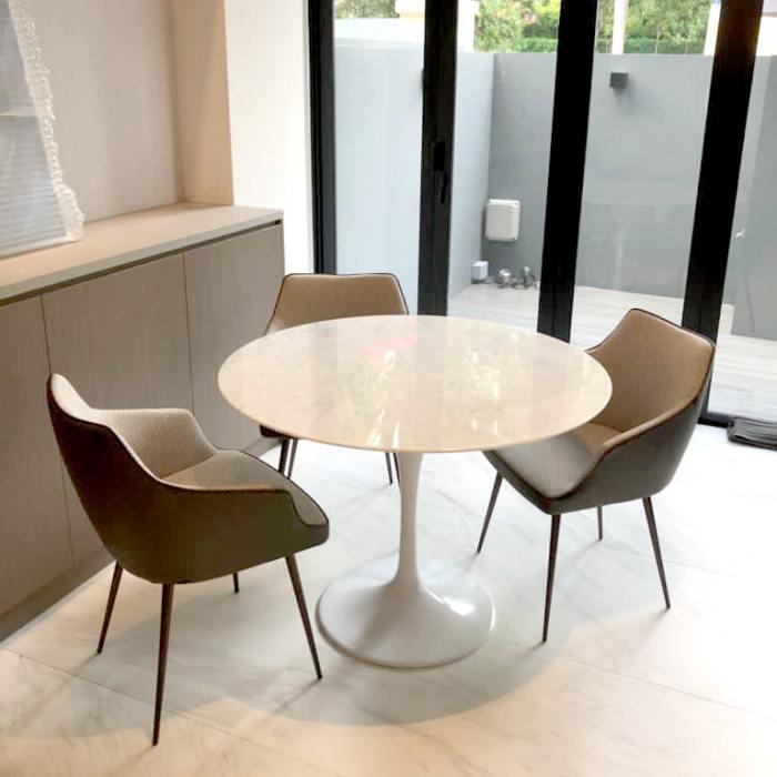 Tulip Dining Table-Round Marble (replica) – Dia1000