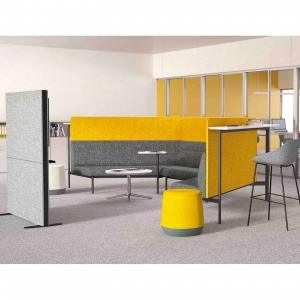 Zum Low Back – 2 Seater w/ Partition + Bar Table