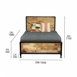 Pipe Bed Frame – Single