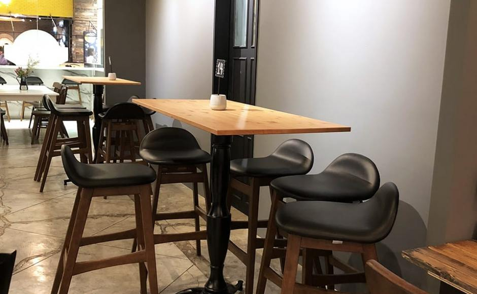 Nostimo Greek Deli Restaurant - Suntec City | Product Seen: [Jazz Barstool – SH750 & Customised Laminate Tabletop + Vatican Table Base - H1040]