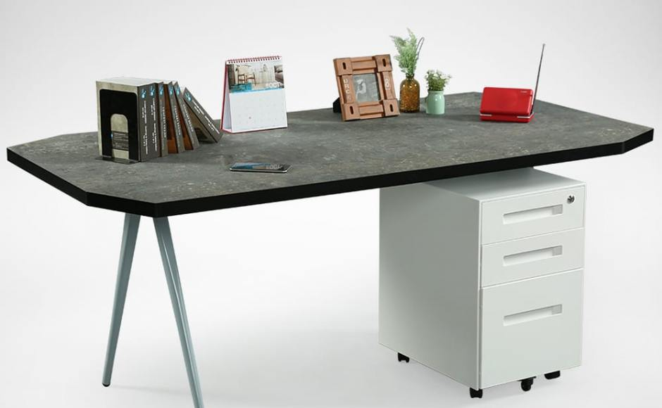 [Laminate Top + Garang Table Base - W1800 & Armour Mobile Pedestal]