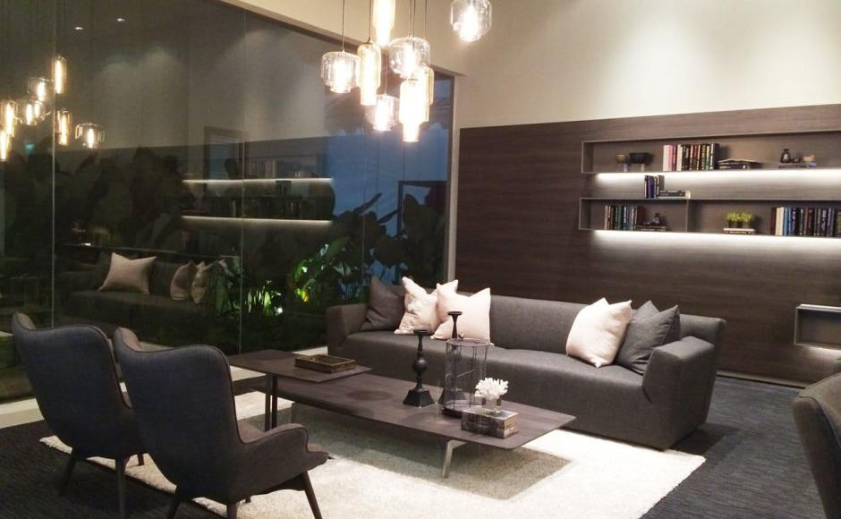 Bellewaters Sales Gallery - Anchorvale | Products seen: [Light Hang NM Series - Pharos & Oculo & Brandy Lounge Set]<br />