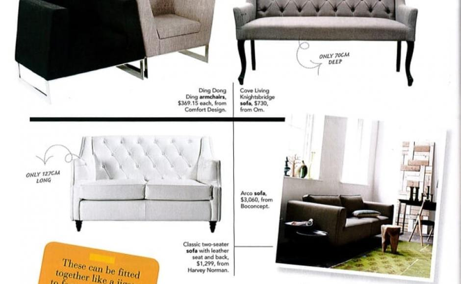 Home & Decor Feb 2012 Issue – Small Spaces ~ Dining & Sofas<br />