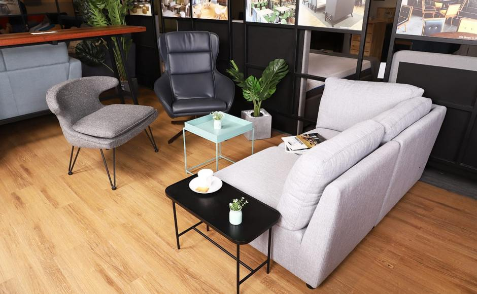 [Jefferson Lounger, Rino Lounger, Urban Coffee Table - W600, Tree - Monstera H900 & Switch Modular Sofa]