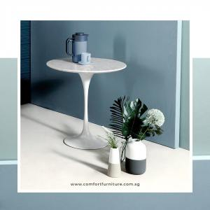 Tulip Side Table-Round Marble (replica)
