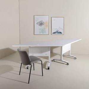 Amos Trapezium Folding Seminar Table - W1500/750 (Nestable)