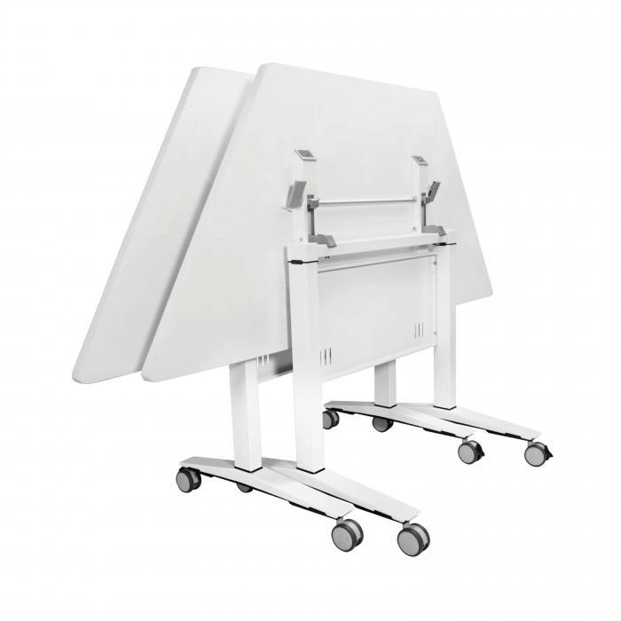 Amos Trapezium Folding Seminar Table - W1500/750 (Nestable)