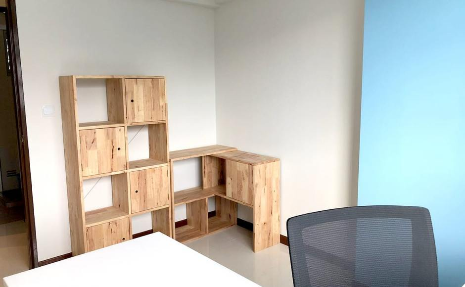 Apartment - Sumang Lane | Product Seen: [Yoko Shelf 2x4 w Door option & Rubic Modular Shelf]