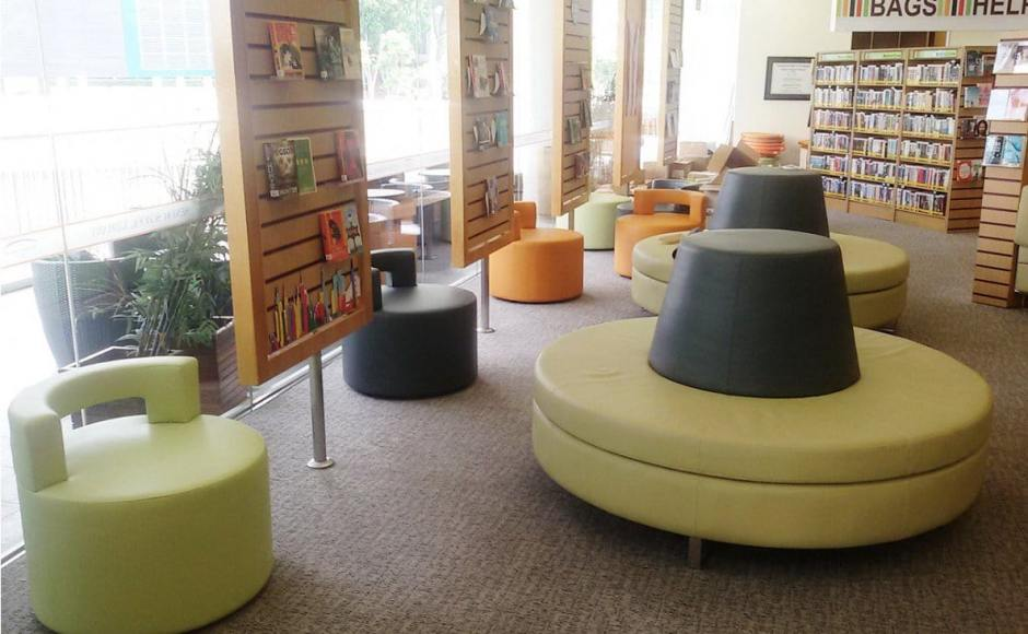Tanglin Trust Secondary School - Portsdown Road | Product Seen: [Aspire 1 Seater Sofa & Customised Backrest Pouf]