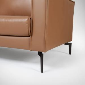 Marvel 3-Seater Sofa – Half Leather (Semi-Aniline)