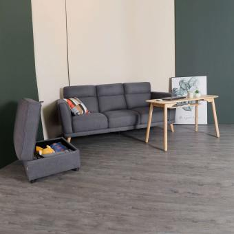 Neuron 3-Seater Sofa - Dark Grey