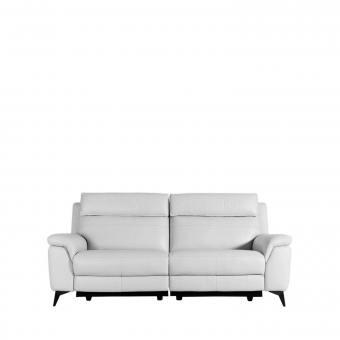 Zeus 3-Seater Reclining Sofa - Half Leather (Semi-Aniline) - Cat 13