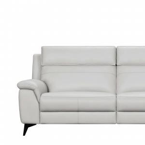Zeus 3-Seater Sofa - Half Leather (Semi-Aniline) - Cat 13