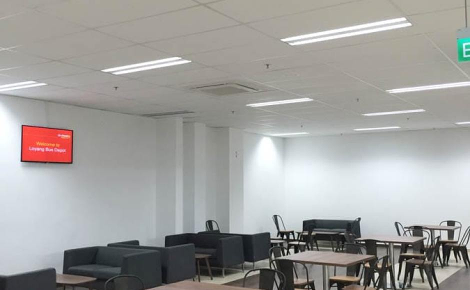 Go-Ahead Singapore Loyang Bus Depot - 2 Loyang Way | Products seen: [Dojo Sidechair - Wood + Rust, Farrer 2-Seater Sofa & Customised Table + Traxtor Round H730 Table Base]<br />