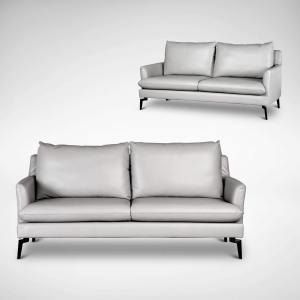 Kimberly 3 Seater Sofa - Half Leather