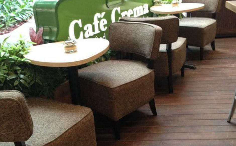 Cafe Crema - Westgate | Products seen: [Leopard 1-Seater]<br />