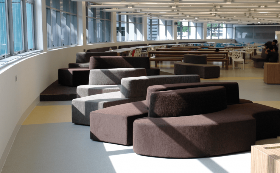 Nanyang Polytechnic - Library | Products seen: [Wave Modular Sofa]<br />