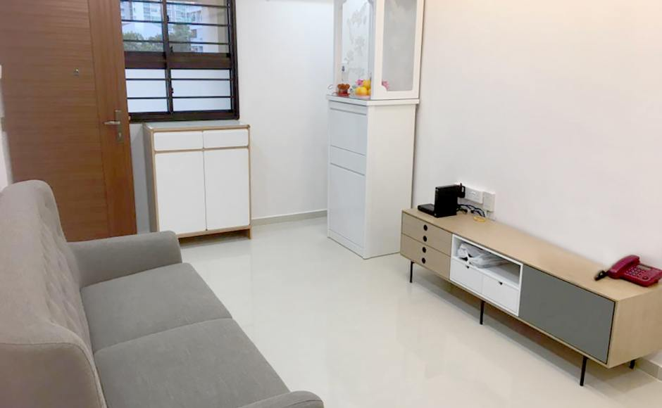 Apartment - Serangoon | Product Seen : [Demi TV Console – W1700 & Kayama 3–Seater Sofa]