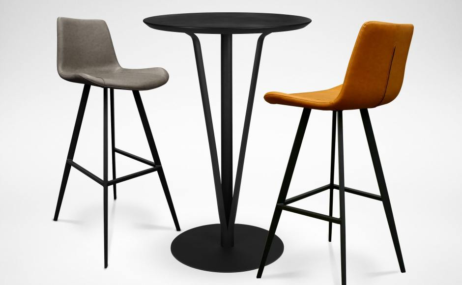 [Souk Bar Table - Round 600 & Eunice Barchair – SH750]