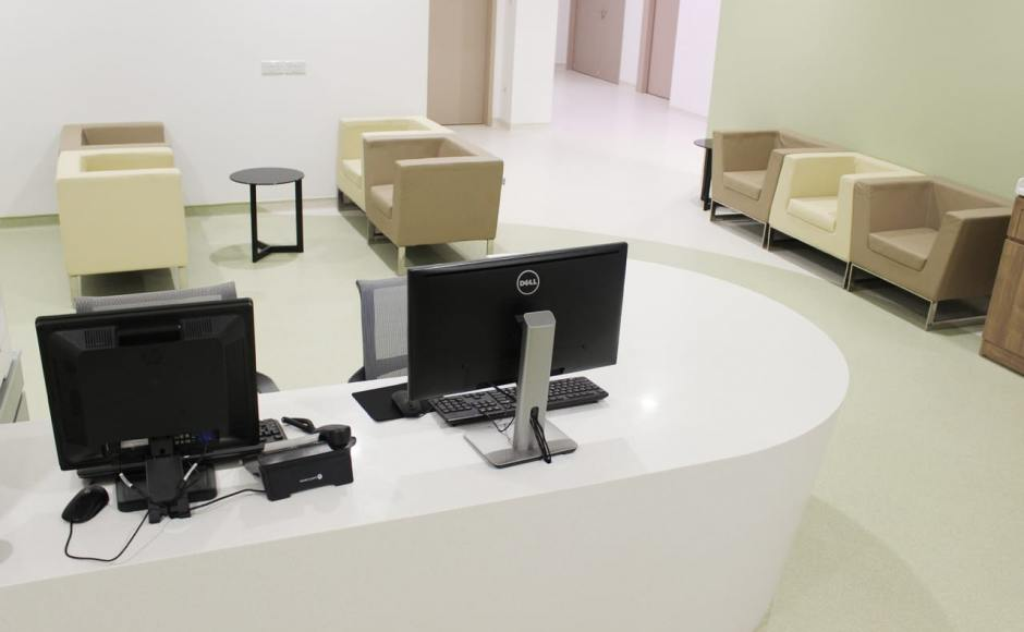 Farrer Park Medical Centre - City Square Mall | Products Seen: [Lola Coffee Table -Small &amp; Ding Dong Modular Sofa]<br />