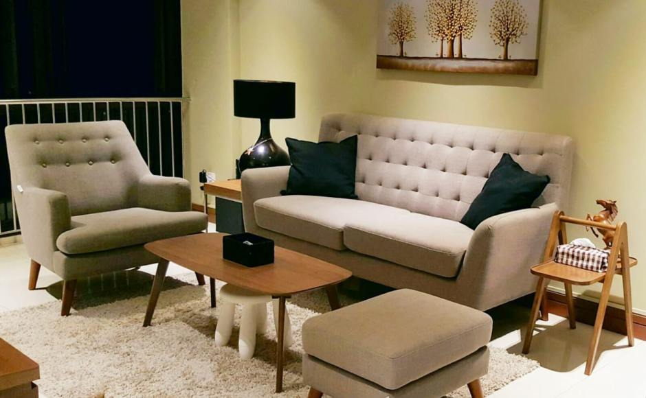 Apartment - Choa Chu Kang | Products Seen: [Kayama 3 Seater Sofa, Kayama Ottoman, Oxford Coffee Table, Shavick Lounger & Station Coffee Table]<br />