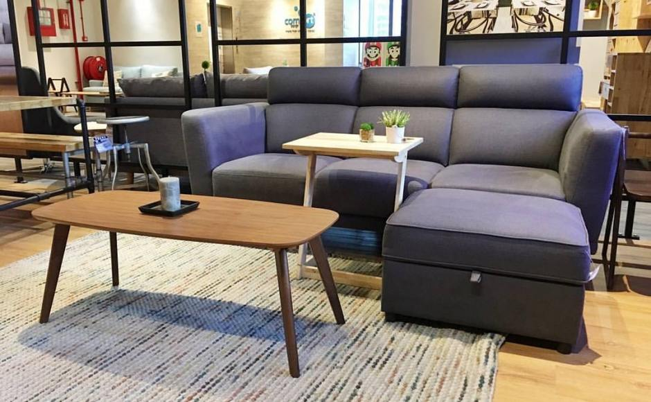 [Neuron 3 Seater Sofa, Oxford Coffee Table & Treasure Ottoman]