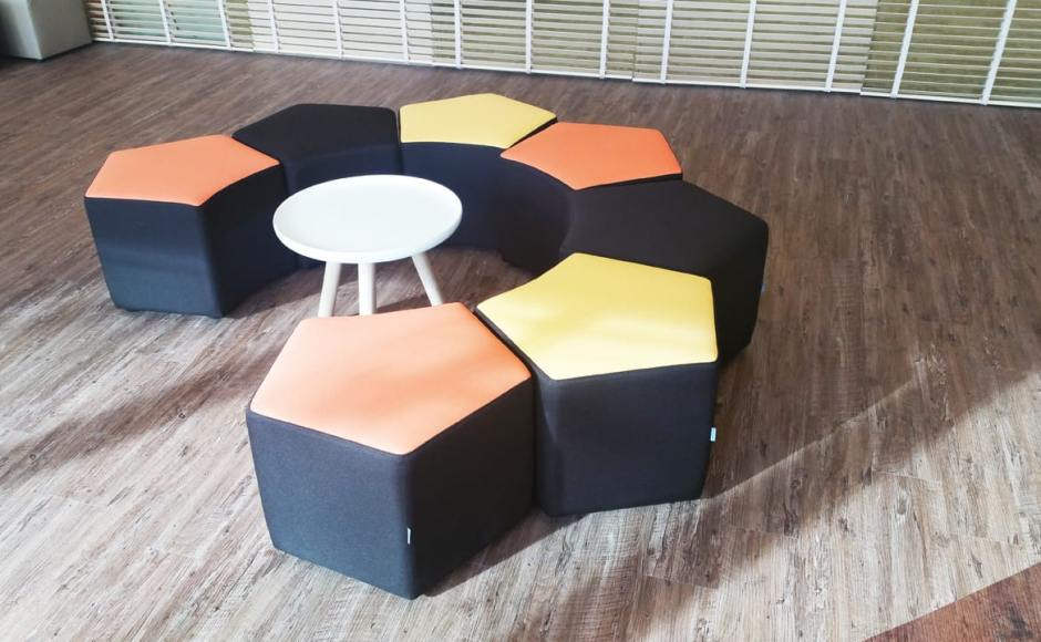Nordea Bank @ Market Street 7 | Product Seen: Seed Modular Stool & Lucy Side Table<br />