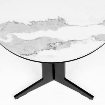 Gleam Coffee Table – Faux Marble (Ceramic)