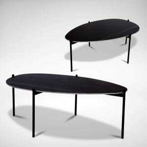 Ritz Coffee Table V2 - Oval 1200 (Ceramic)