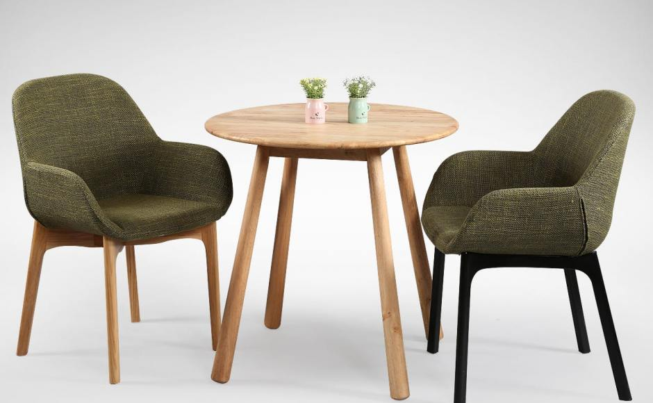 [Tumi Round Dining Table – Dia750, Tracy Chair – Wood Legs & Tracy Chair – PP Legs]
