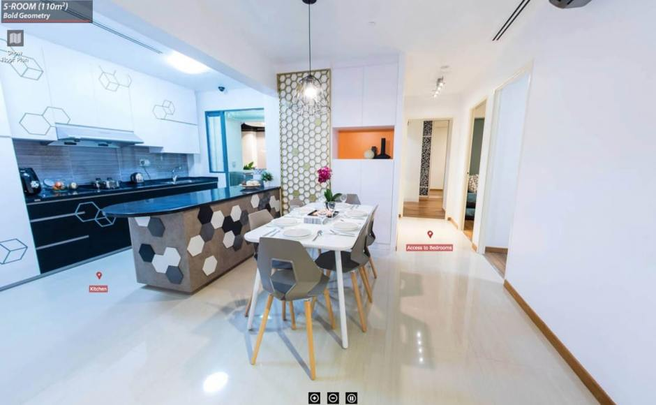 Showflats @ HDB Hub Toa Payoh | Products seen: [Keyhole Sidechair & Sandra Dining Table]