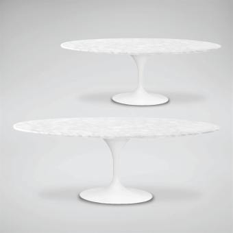 Tulip Dining Table – Oval Marble (replica) – W2000