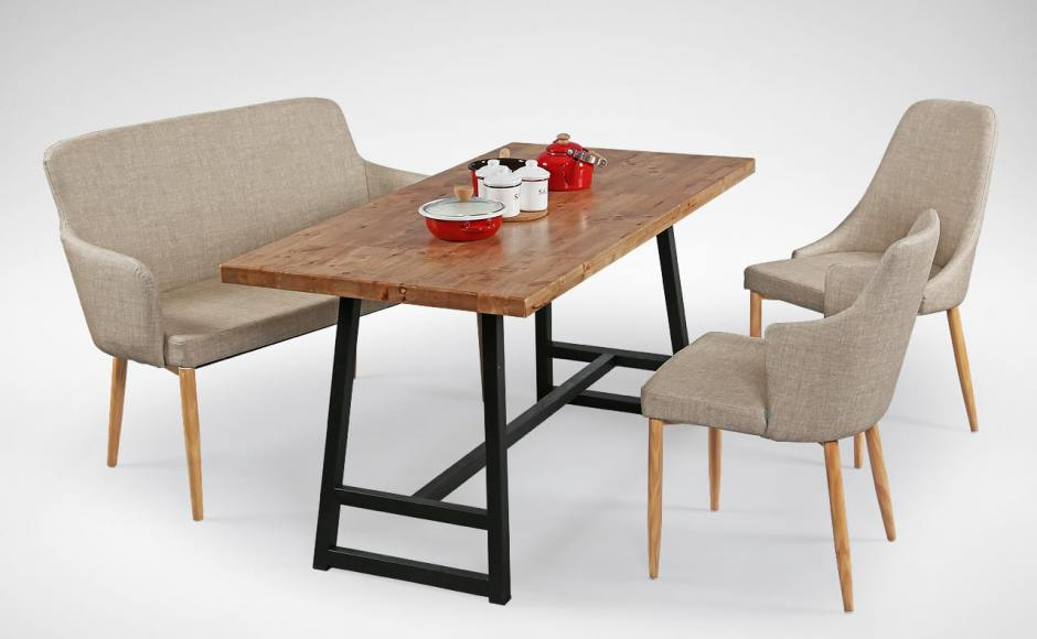 [Debbie Dining Bench, Anderson Dining Table, Beatrice Sidechair & Corine Armchair]