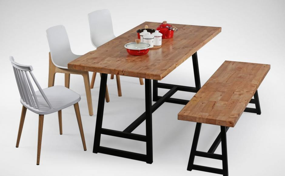[Choyu Chair, Anderson Dining Table, Anderson Dining Bench, Plug + Square Leg Chair &amp; Plug + Round Leg Chair]<br />