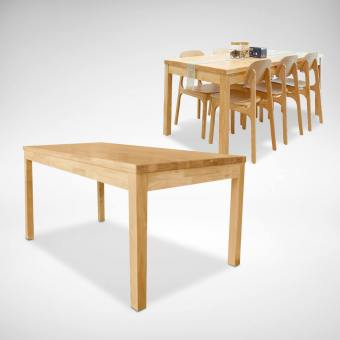 Column Dining Table w/ Clean Rubberwood Top – Customisable