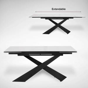 Elona Extendable Dining Table – W1600/1980/2400 (Ceramic)