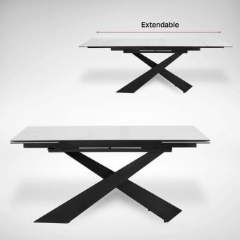 Elona Extendable Dining Table – W1600/1980/2360 (Ceramic)
