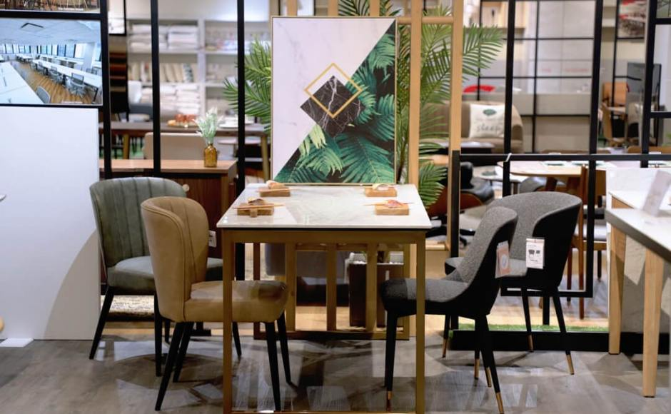 [Marble x Ricky Dining Table - W1500, Marlene Arm/Side chair & Calendonia Side Chair]