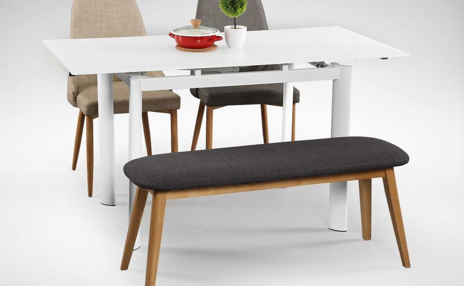 [Vovo Extendable Table – W960/1195/1425, Beatrice Sidechair & Barett Bench]