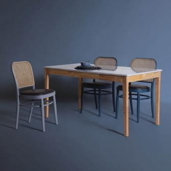Marble x Shiro Dining Table - W1500