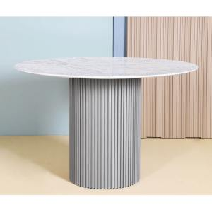 Tulip Round Marble x Ohio Dining Table - Dia1000