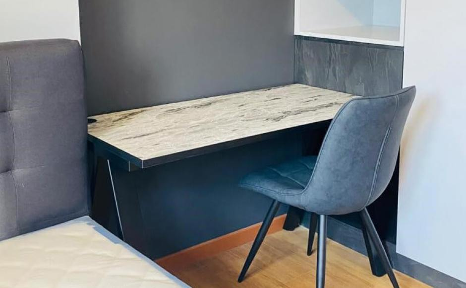Residence Study Corner - Tampines | Product Seen: [Customised Apex Study Table - W1200]