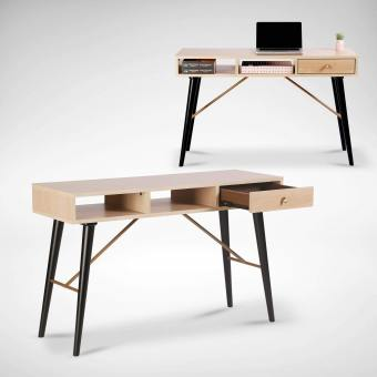 Zeth Study Table - Maple