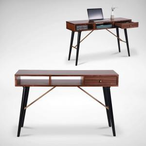 Zeth Study Table - Walnut